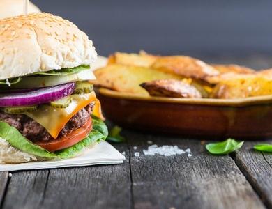 Cheap Ljubljana Restaurants Pub Style Hamburger and Fries