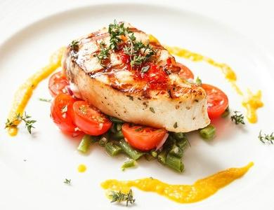 Mid-Priced Ljubljana Restaurants, Fish Steak with Vegetables