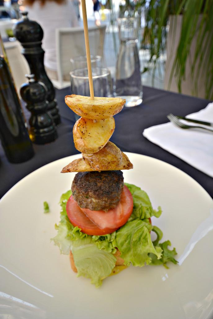 Bio beef burger from Zvezda restaurant Ljubljana