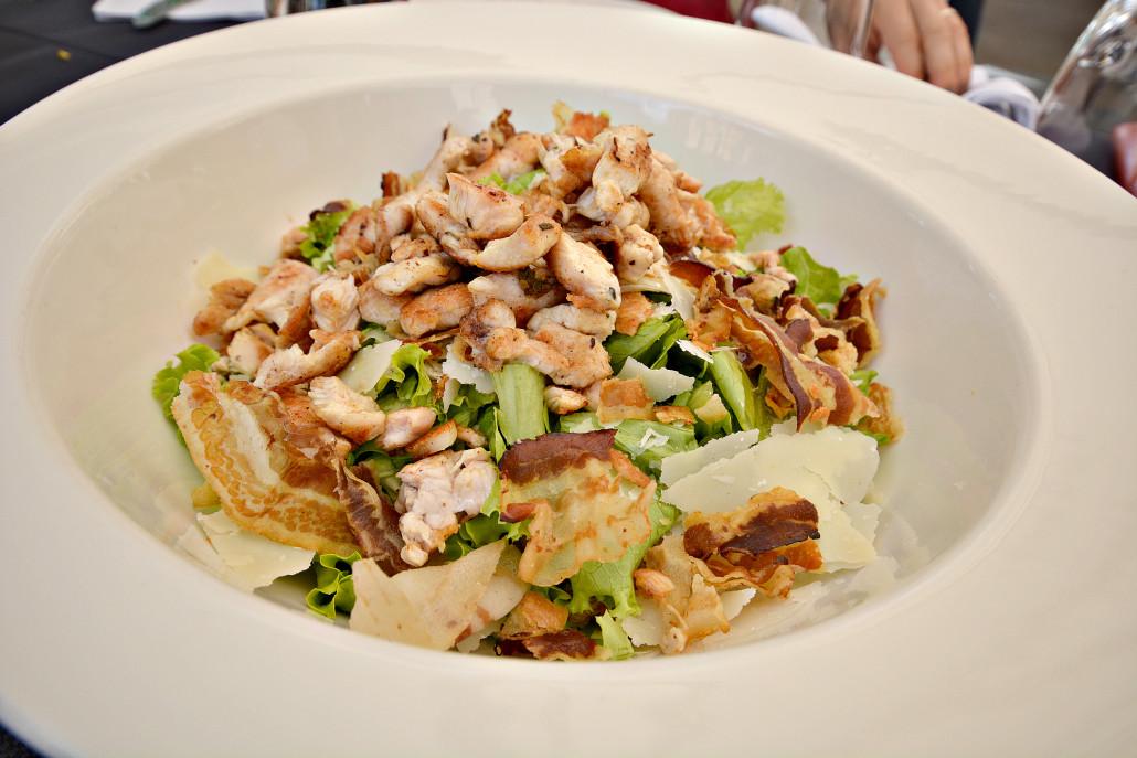 Caesar salad at Zvezda Bistro Ljubljana