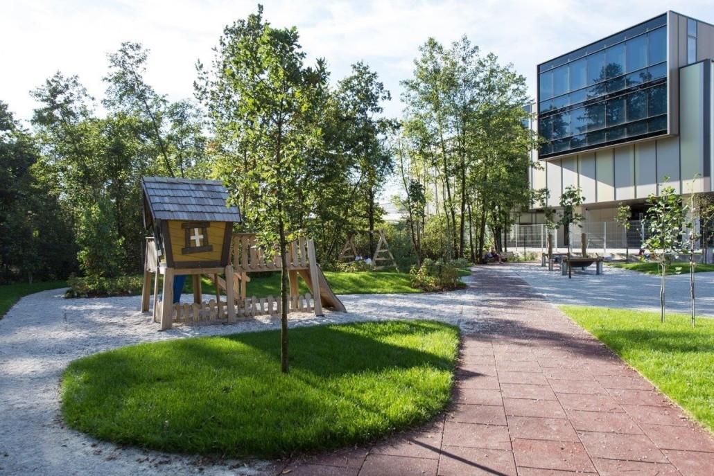 The playground at the British International School of Ljubljana