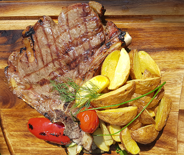 Trattoria Azur Ljubljana, Grilled Florentine Beef