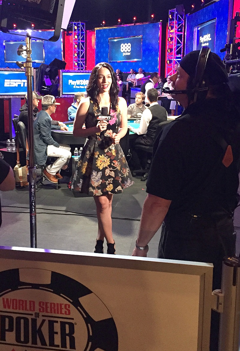 Kara Scott, sideline reporter for WSOP at ESPN